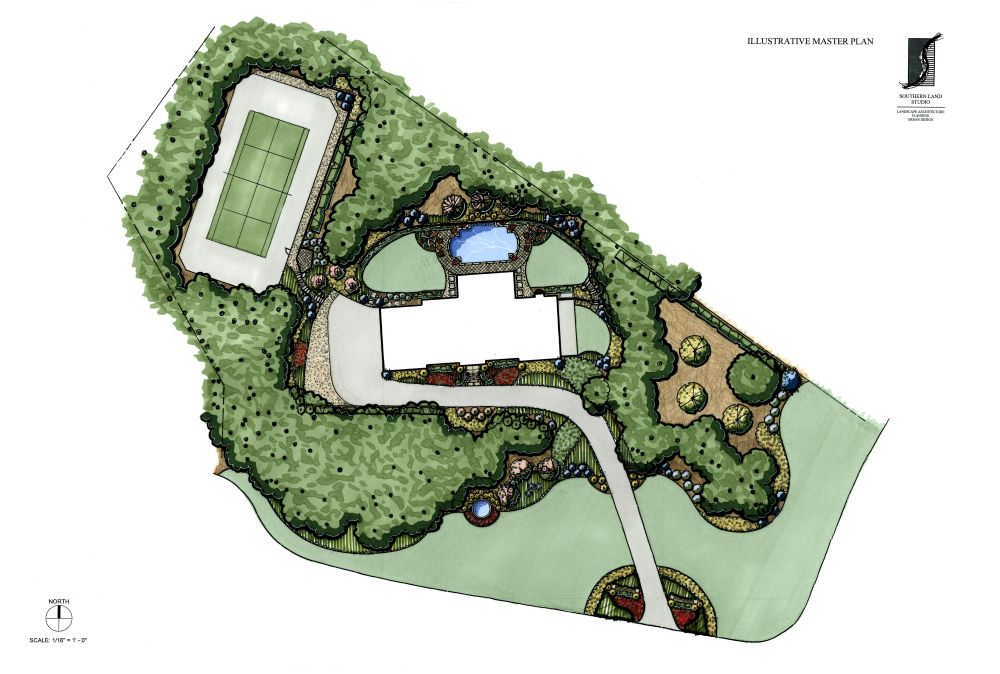 Southern Land Studio, LLC Illustrated Master Plan for ... on Masterplan Outdoor Living id=26100