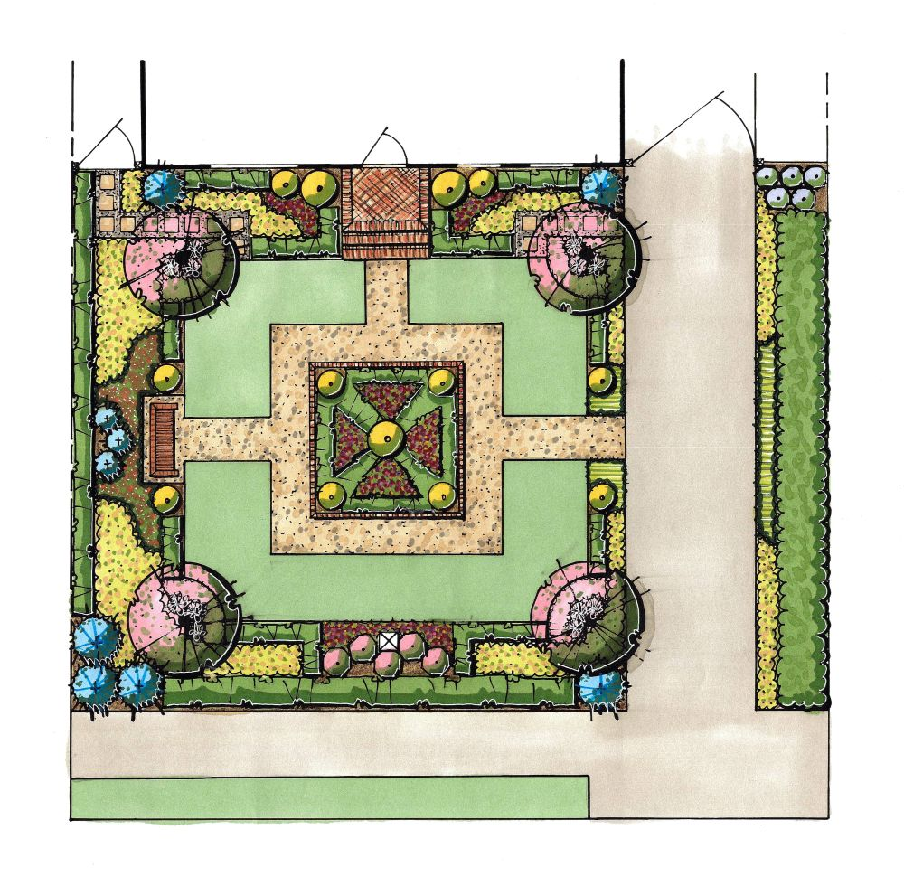 Southern Land Studio, LLC Illustrated Master Plan for ... on Masterplan Outdoor Living id=94864